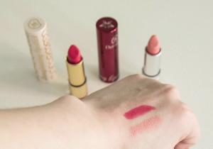 longlasting lipstick od dermacolu, click rtěnky, odstíny 01