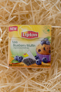 lipton, muffin, tea, čaj, blueberry, blueberry muffin,