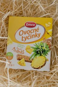 musli, ovocné tyčinky, ananas, snack, zdravá svačinka