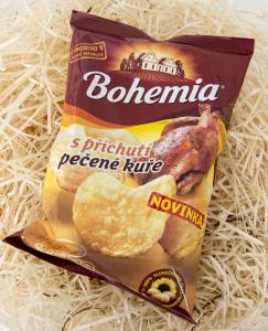 bohemia chips, pečené kuře