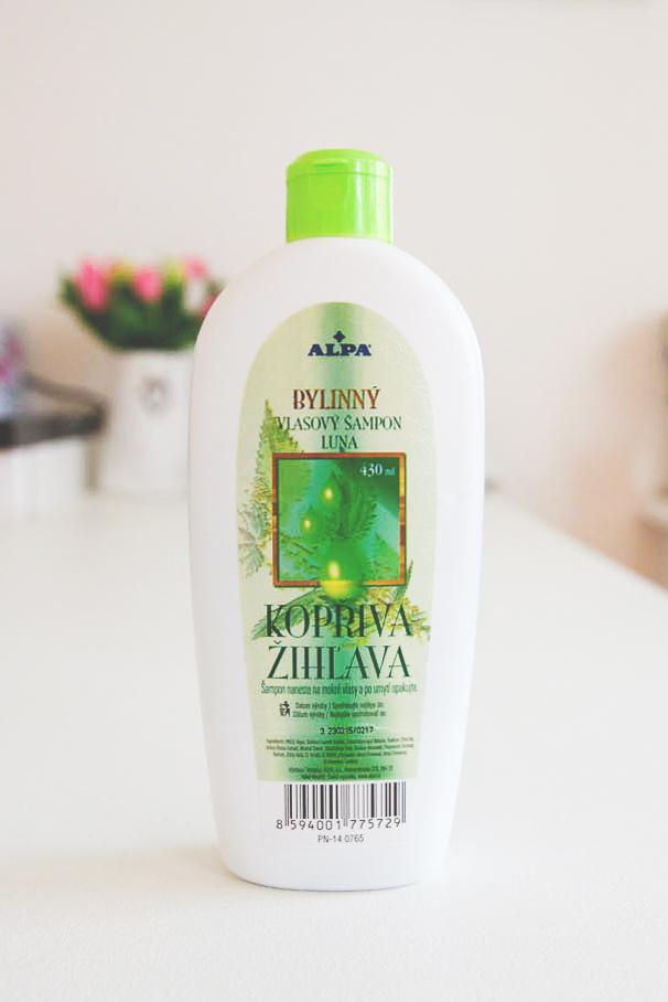 bylinný šampón na vlasy, kopřiva, značka Alpa