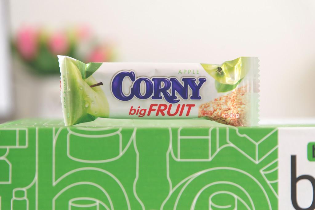 Corny Big Fruit, musli tyčinka, jablečná, 14,90 Kč,