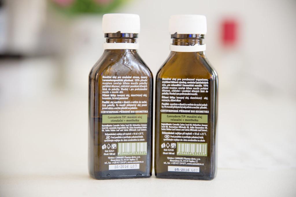 cannaderm, masážní olej, tělo, natura