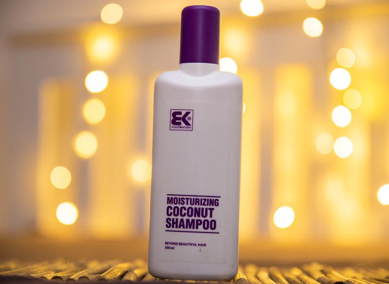Kokosový Šampon Moisturizing po aplikaci keratinu