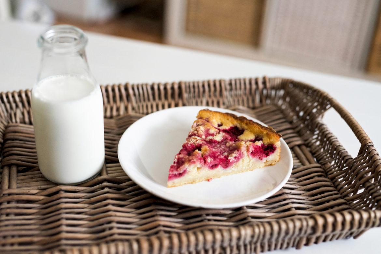 Malinový koláč: Rychlý moučník bez vajec