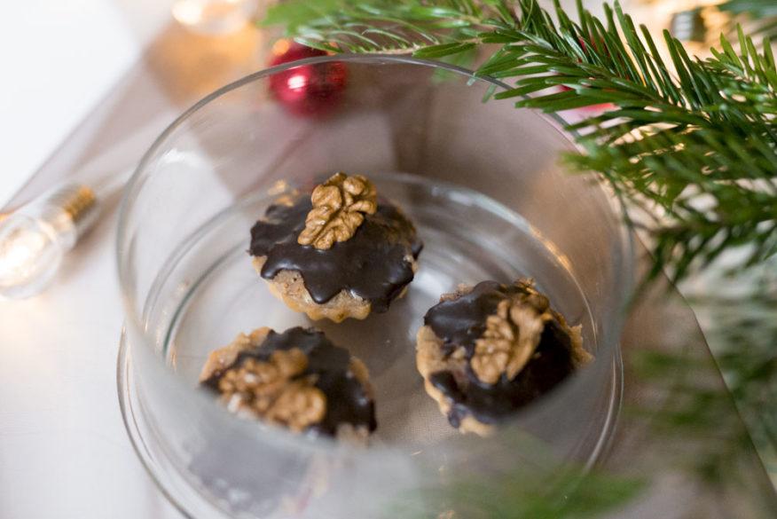 Ořechové košíčky cukroví
