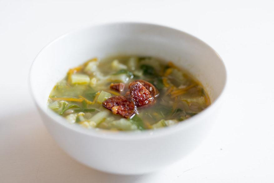 hrstková polévka