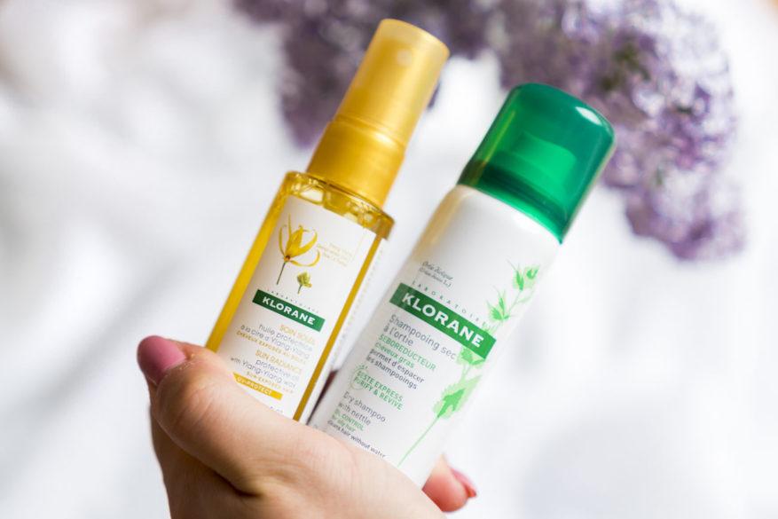 klorane, suchý šampón, olej na vlasy