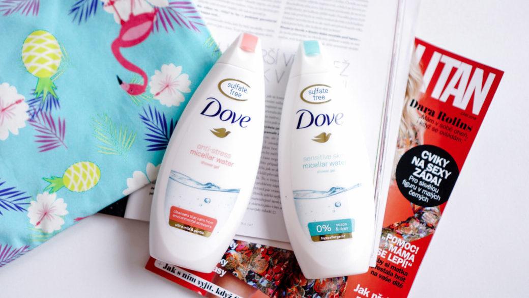Micelární sprchové gely Dove