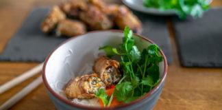 jarní závitky s rýžovými nudlemi Bun Nem