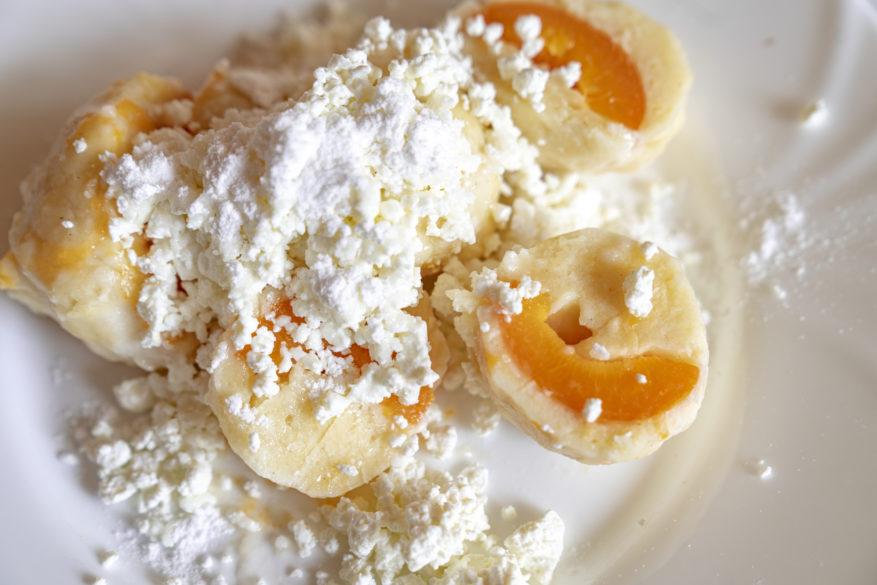 meruňkové knedlíky z tvarohu